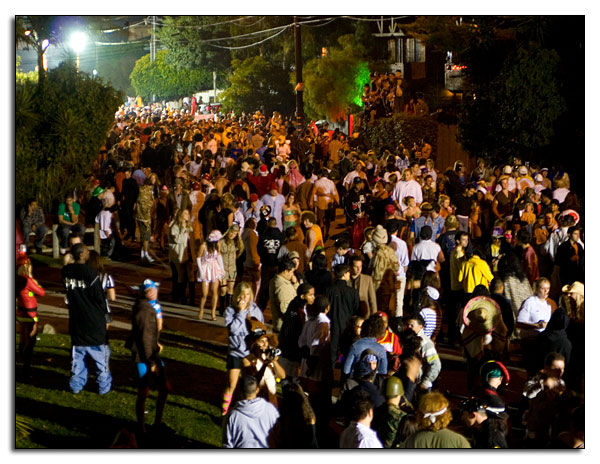 The crowds in Isla Vista during Halloween can get crazy